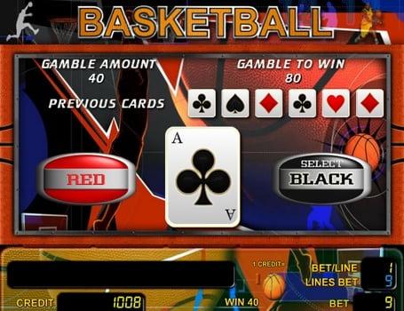 Риск-игра в аппарате Basketball