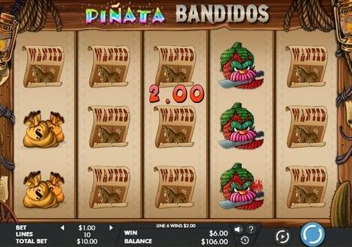 Комбинации на линиях в аппарате Pinata Bandidos