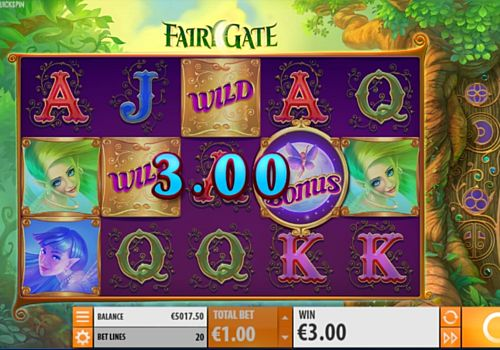 Выигрышная комбинация символов в автомате Fairy Gate