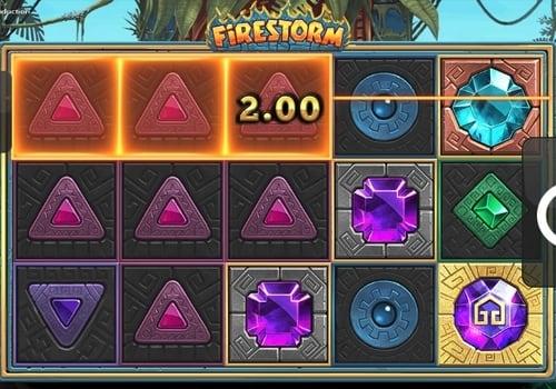 Выигрышная комбинация в автомате Firestorm