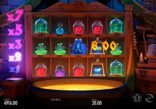 Выигрышная комбинация символов в автомате Frog Grog