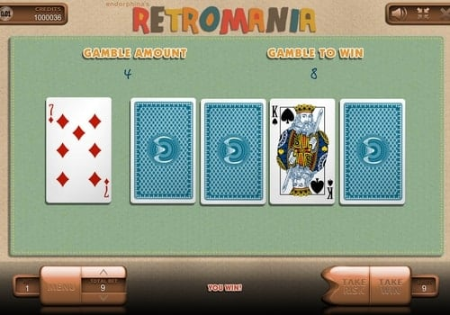 Раунд на удвоение в автомате Retromania
