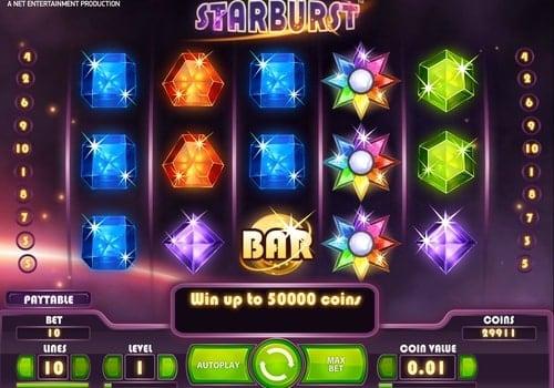 Игровые автоматы на реальные деньги с выводом на карту Starburst