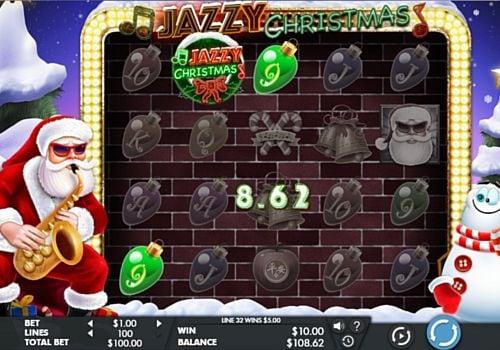 Призовая комбинация с диким знаком в игровом автомате Jazzy Christmas