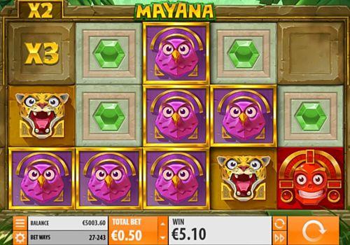 Выигрышная комбинация в игровом автомате Mayana