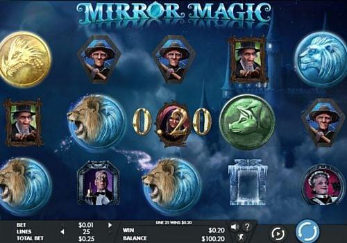 Призовая комбинация на линии в игровом автомате Mirror Magic
