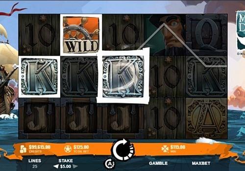 Призовая комбинация на линии в игровом автомате Moby Dick