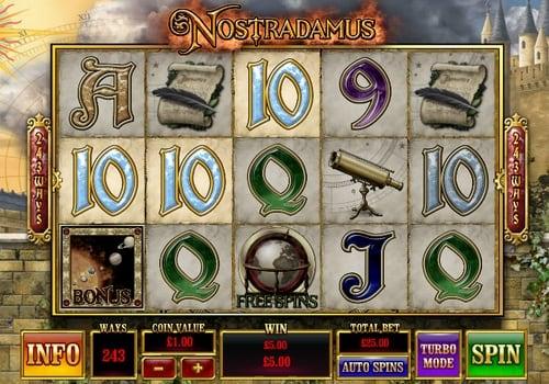 Призовая комбинация в игровом автомате Nostradamus
