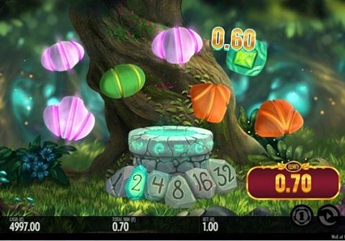 Призовая комбинация символов в игровом автомате Well of Wonders