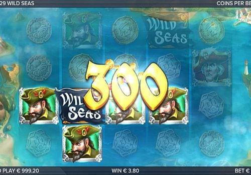 Призовая комбинация с дикими знаком в игровом автомате Wild Seas
