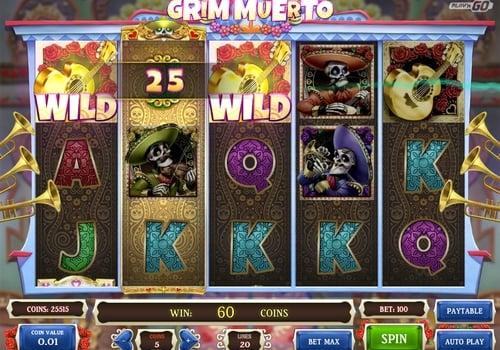 Игровые автоматы на реальные деньги с выводом на карту - Grim Muerto