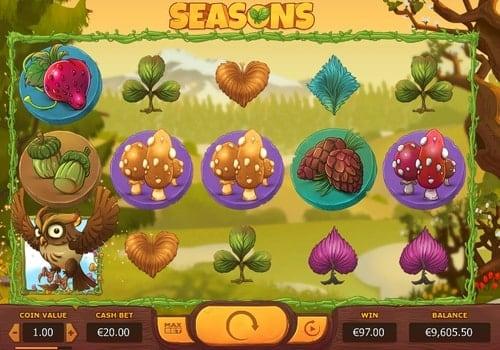 Игровые автоматы на реальные деньги с выводом на карту — Seasons