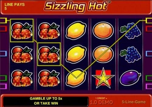 Игровые автоматы онлайн с выводом денег на карту - Sizzling Hot