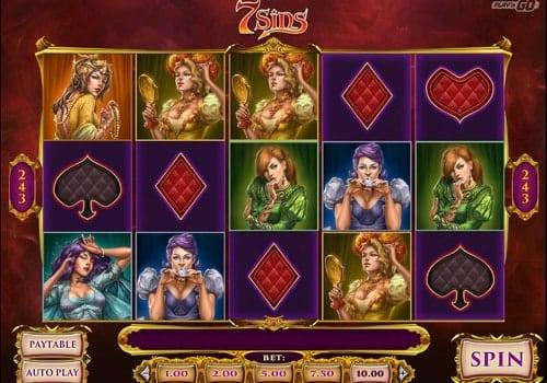 Игровые автоматы с выводом денег на карту — 7 Sins