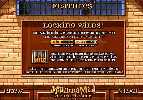 Дикий знак в Mamma Mia онлайн