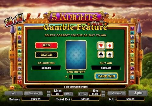 Риск-игра в онлайн аппарате 5 Knights