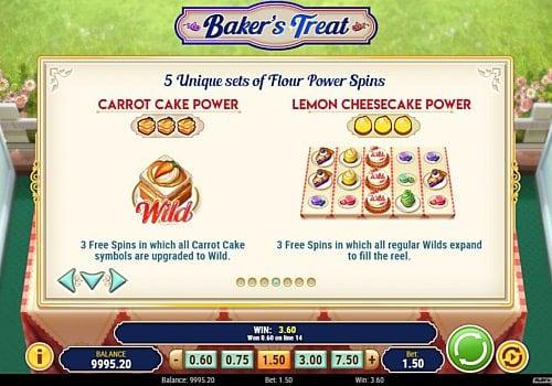 Фриспины в онлайн аппарате Baker's Treat