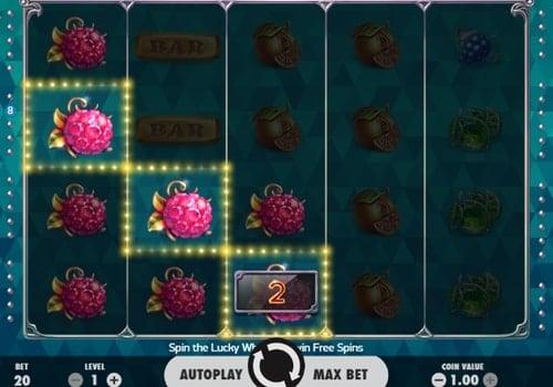 Выигрышная комбинация в онлайн аппарате Fruit Spin