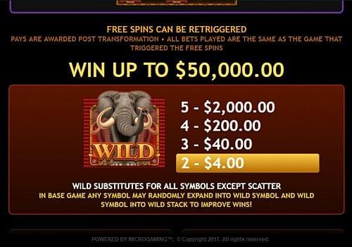 Wild в онлайн аппарате King Tusk