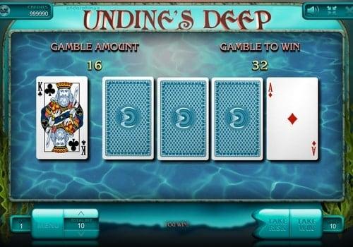 Риск игра в онлайн аппарате Undine's Deep