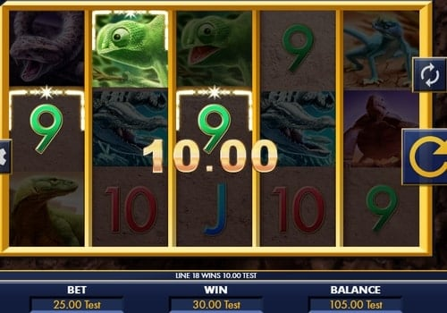 Комбинация с диким знаком в онлайн автомате Reptile Riches
