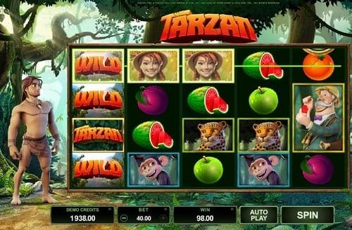 Дикие символы онлайн автомата Tarzan