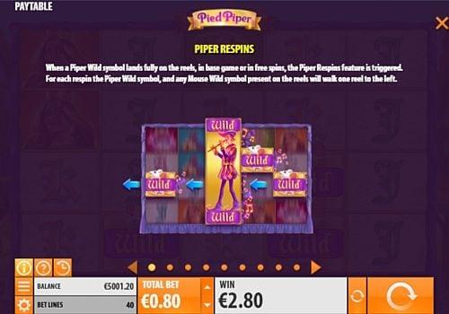 Респины в онлайн слоте Pied Piper
