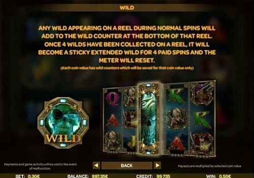 Описание Wild в онлайн слоте Skulls of Legend