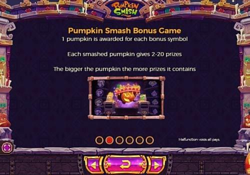 Правила бонусной игры в Pumpkin Smash