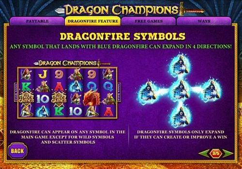 Игровой бонус в слоте Dragon Champions