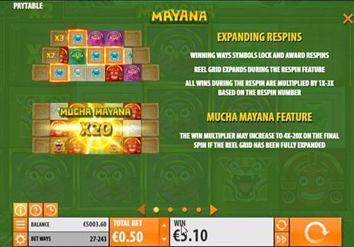 Правила фриспинов в слоте Mayana